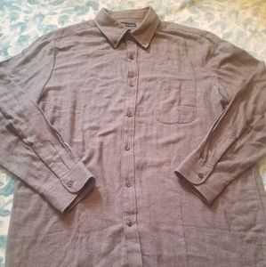 John Ashford Gray Long sleeve shirt Size L